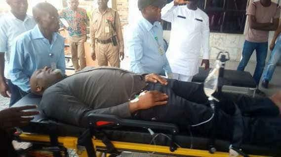 Dino Melaye rushed to the hospital