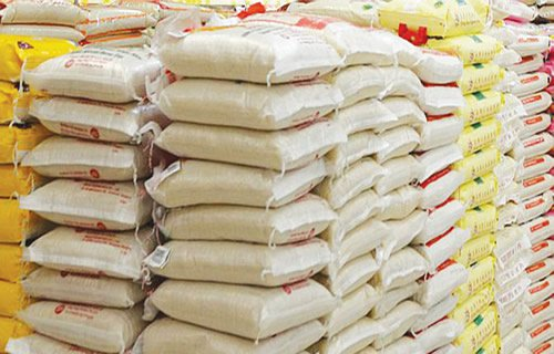Bags of Rice donated by PDP to Kogi workers