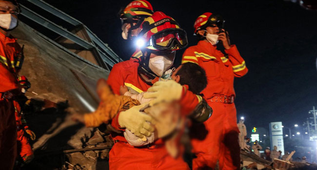 10 killed as China Quarantine Hotel collapses