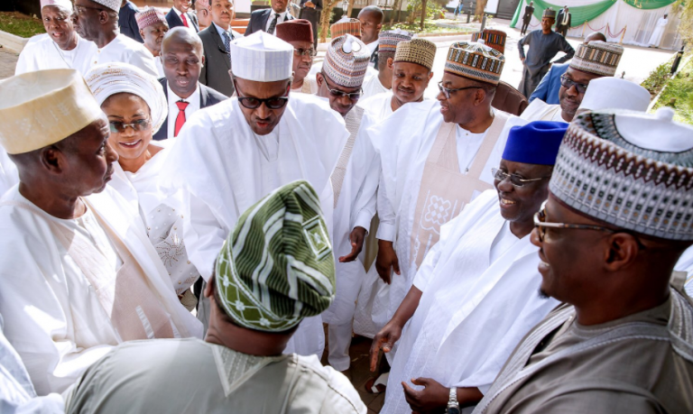 President Muhammadu Buhari and the visiting APC governors