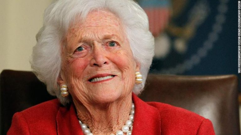 Former US first lady Barbara Bush dead at 92