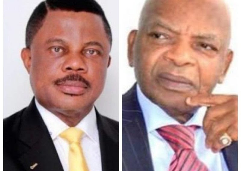 Governor Willie Obiano and Prince Arthur Eze