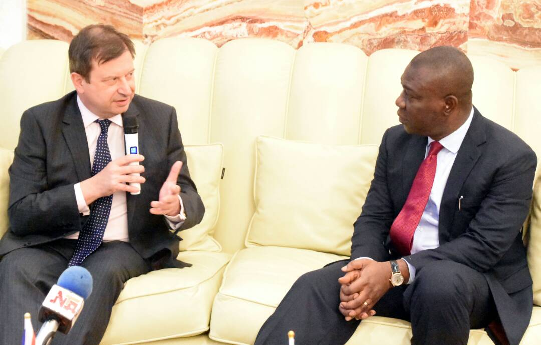 Mr. Paul Arkwright and Senator Ike Ekweremadu  during the visit