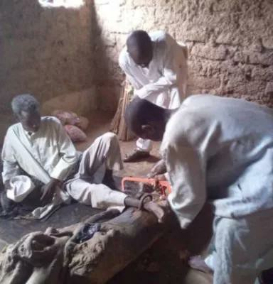Police rescue 55 year-old man chained for 30 years by his father in Kano (photo)