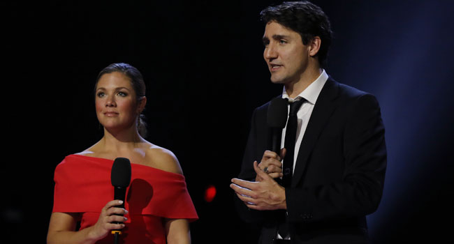Canada PM's Wife tests positive for Coronavirus