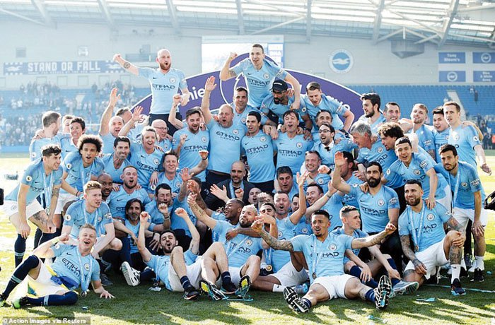 Man City beats Brighton to retain EPL title