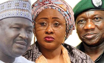 Misau, Aisha Buhari and IGP Idris