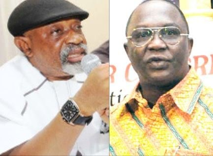 Minister of Labour, Dr Chris Ngige and NLC President, Ayuba Wabba