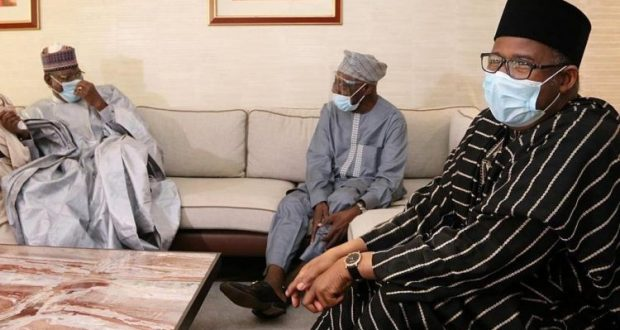 PDP leaders with Obasanjo