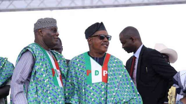 Atiku  Abubakar and Uche Secondus