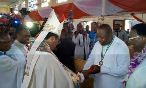 Archbishop Emmanuel Chukwuma and Governor Ifeanyi Ugwuanyi