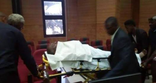 Olisametuh Metuh brought to court on stretcher